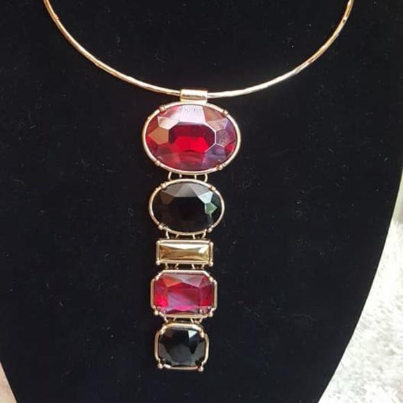 Chico's Jewelry - Chico's Drop Stone Choker Never Worn